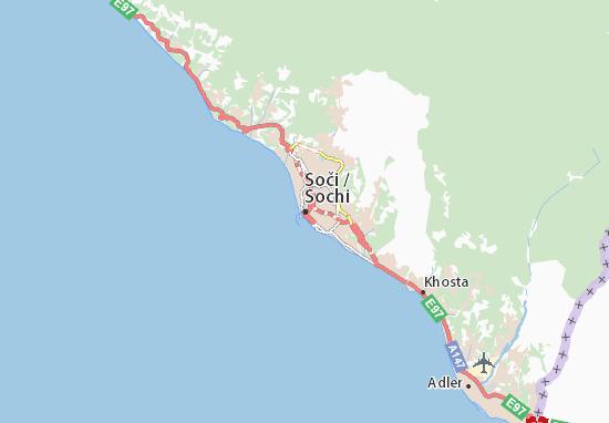 Soči Map