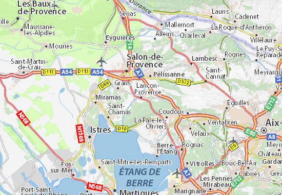 Carte-Plan Lançon-Provence