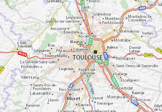 Cartina Francia Tolosa.Mappa Michelin Lardenne Pinatina Di Lardenne Viamichelin