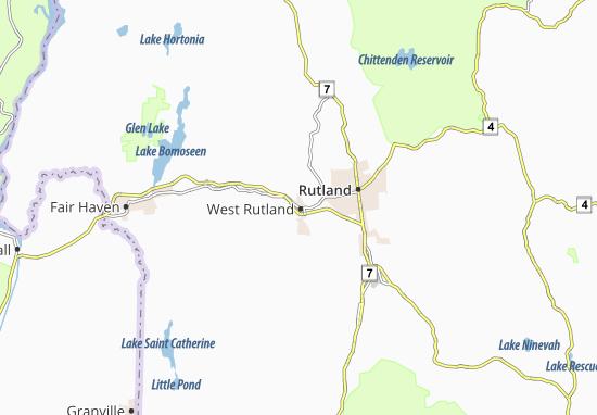 West Rutland Map