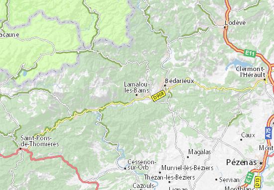 lamalou les bains carte Carte détaillée Lamalou les Bains   plan Lamalou les Bains
