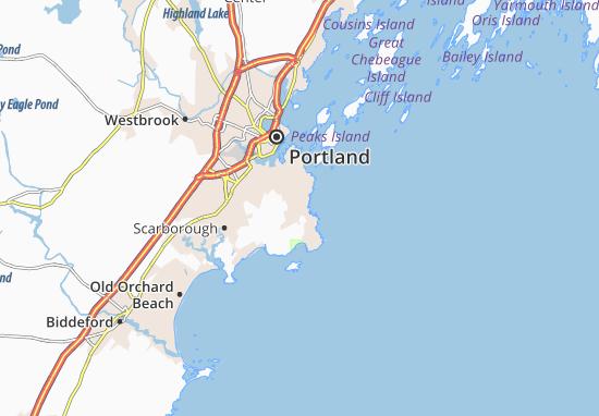 Mapas-Planos Cape Elizabeth