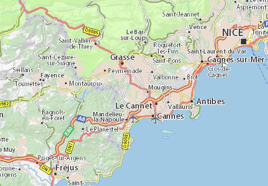 Mapa Plano La Roquette-sur-Siagne