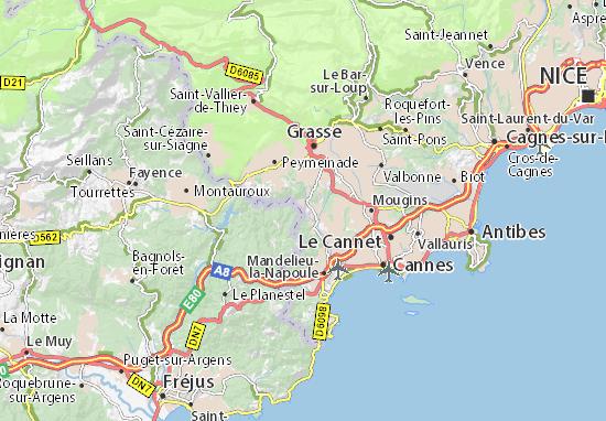 Auribeau-sur-Siagne Map