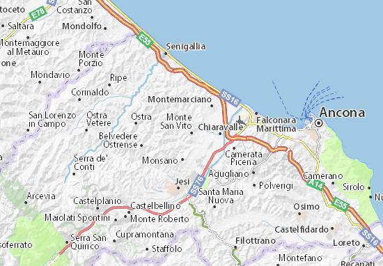 Carte-Plan Monte San Vito