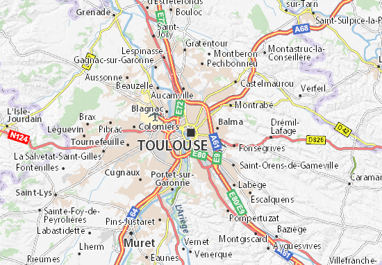 Carte-Plan Toulouse