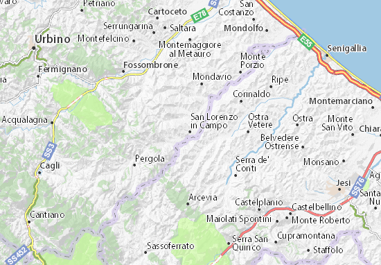 San Lorenzo in Campo Map