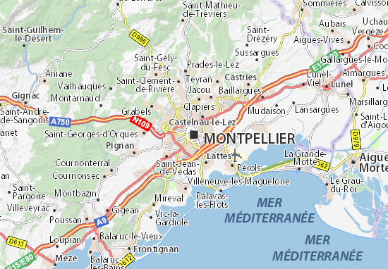City Map Of Montpellier France