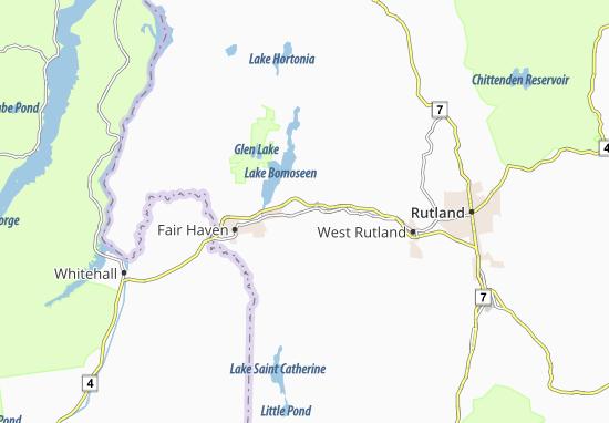Kaart Plattegrond Castleton