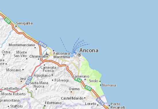 Carte-Plan Ancona