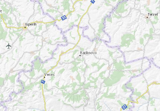 Mapa Plano Kaolinovo
