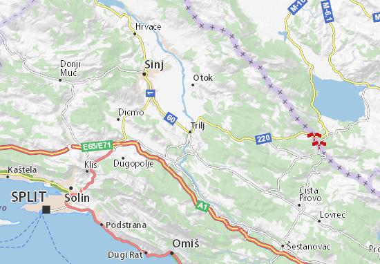 Trilj Map