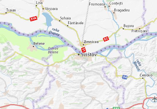 Mapa Plano Svishtov