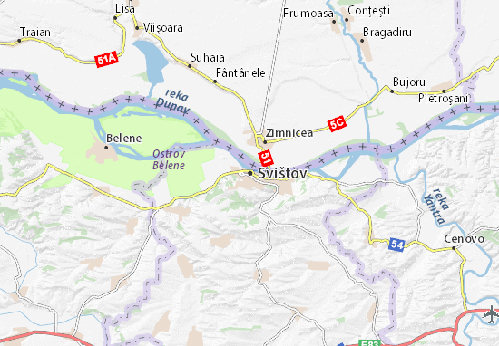 Svištov Map