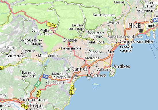 Mouans-Sartoux Map