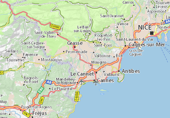 Karte Stadtplan Mouans-Sartoux
