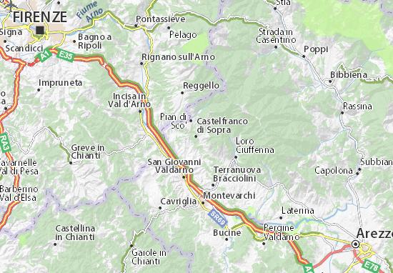 Carte-Plan Castelfranco di Sopra