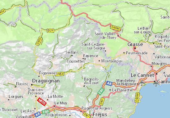 Mappe-Piantine Tourrettes