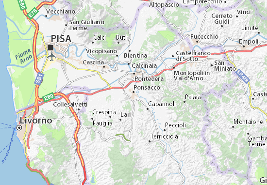 Carte-Plan Ponsacco