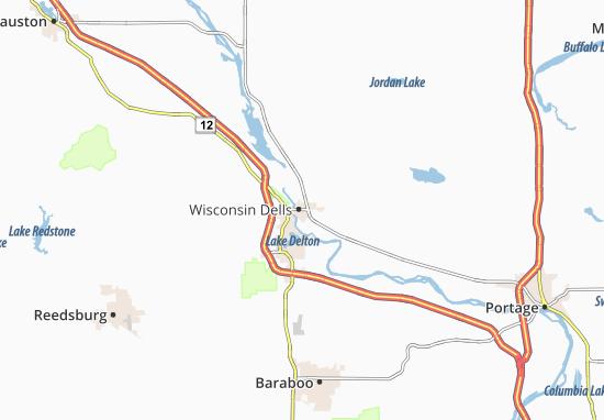 Map Of Wisconsin Dells Michelin Wisconsin Dells Map Viamichelin
