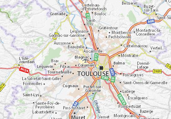Toulouse Karte.Karte Stadtplan Aéroport De Toulouse Blagnac Viamichelin