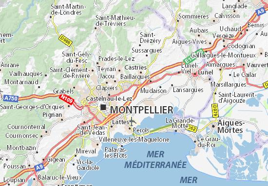 Saint-Aunès Map