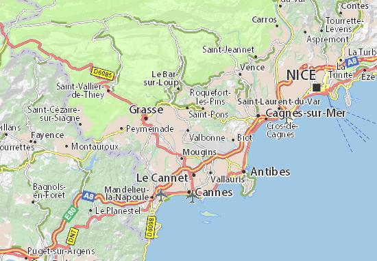 Valbonne Map