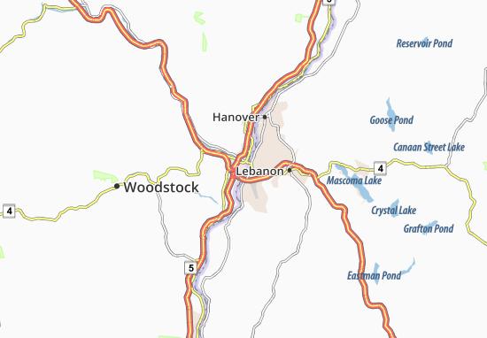 White River Junction Map