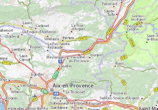 Mapa Plano Peyrolles-en-Provence