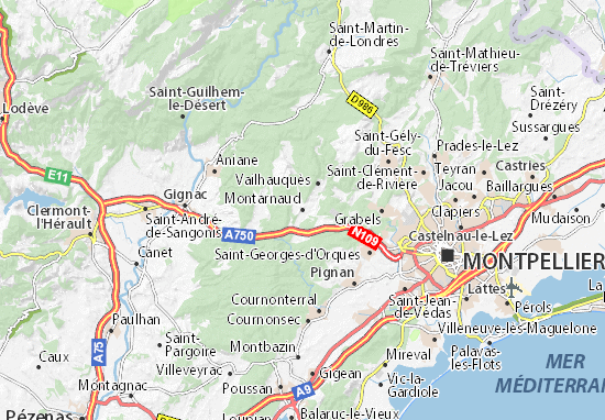Mapas-Planos Montarnaud