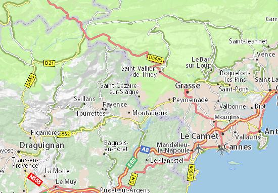 Saint-Cézaire-sur-Siagne Map