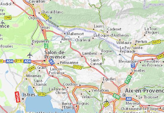 Lambesc Map