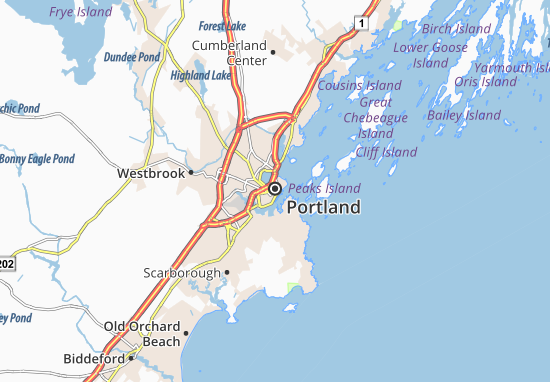 Map of Portland Michelin Portland map ViaMichelin – Portland Tourist Attractions Map
