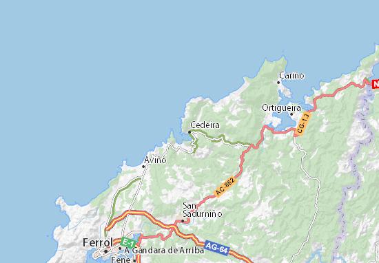 Cedeira Map