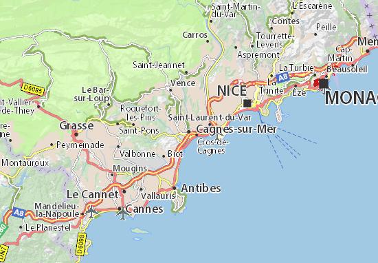 Karte Stadtplan Cagnes-sur-Mer