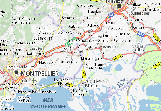 Mapas-Planos Marsillargues