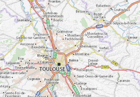 Karte Stadtplan Saint-Jean