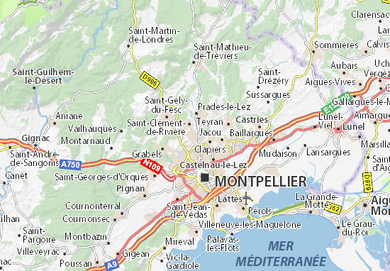 Carte-Plan Montferrier-sur-Lez