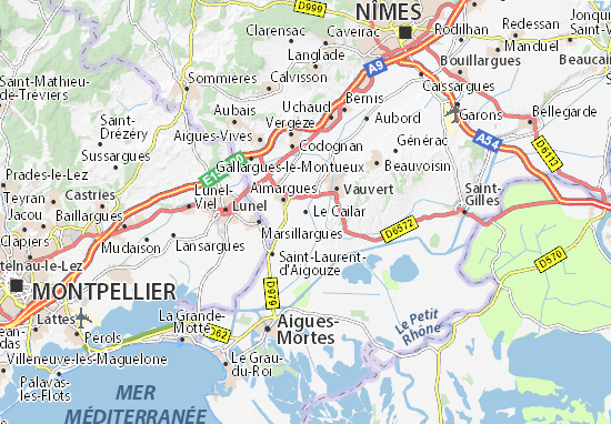 Mappe-Piantine Le Cailar