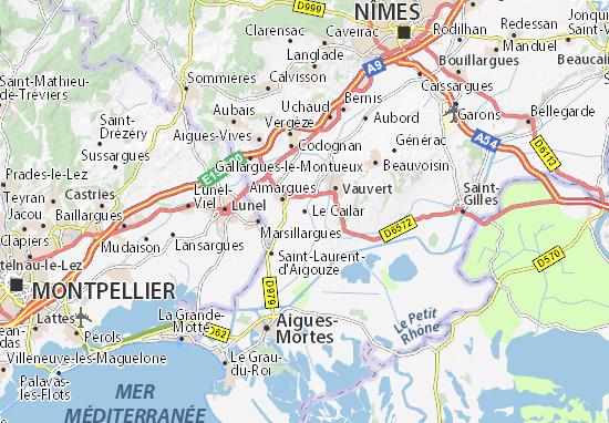 Mapas-Planos Le Cailar