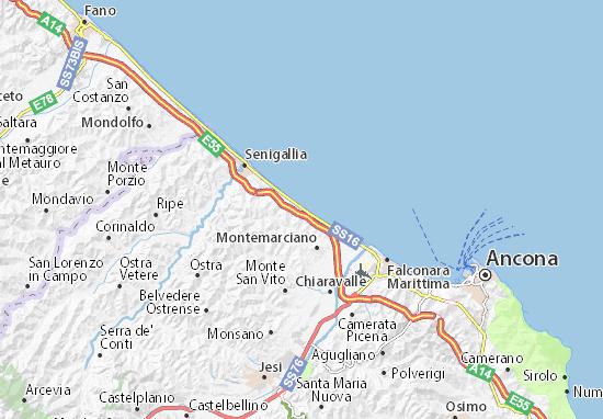 Cartina Italia Senigallia.Mappa Michelin Marzocca Pinatina Di Marzocca Viamichelin