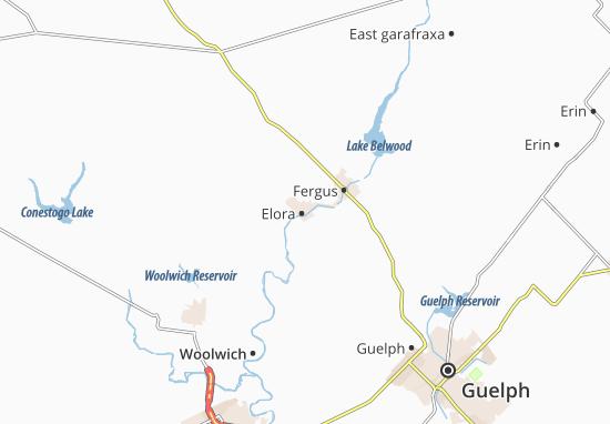 Kaart Plattegrond Elora