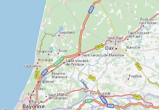 Mapa Plano Saint-Geours-de-Maremne