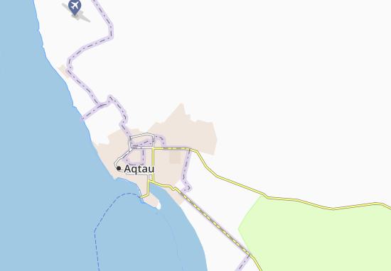 Kaart Plattegrond Mangyshlak