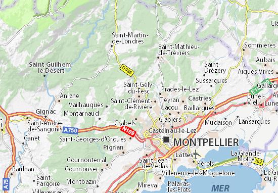 Mappe-Piantine Saint-Gély-du-Fesc
