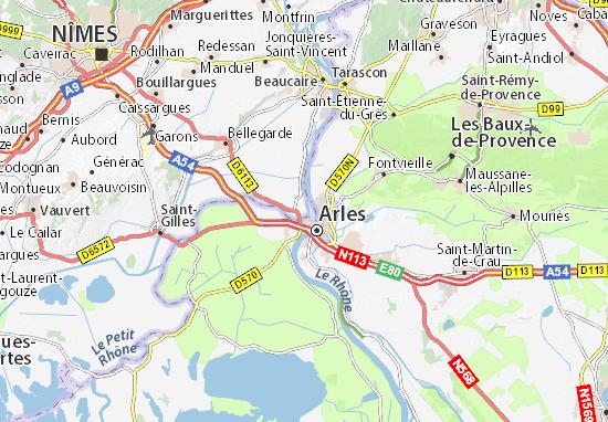 Karte Stadtplan Fourques