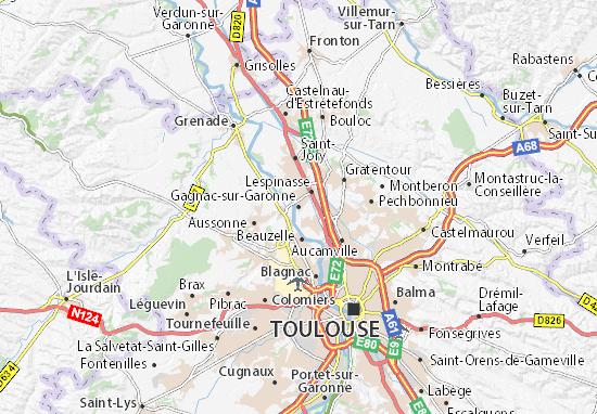 Carte-Plan Gagnac-sur-Garonne