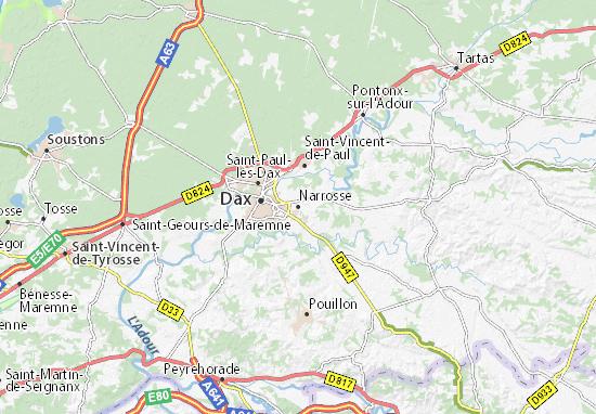 Narrosse Map