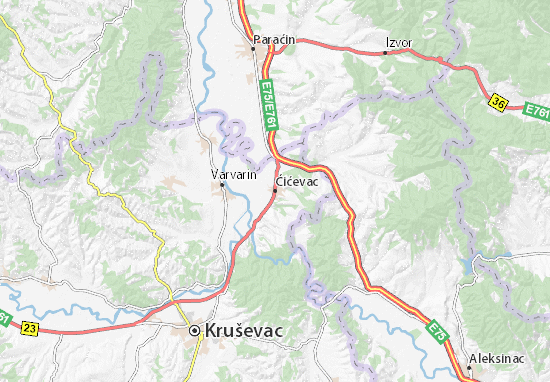 Ćićevac Map