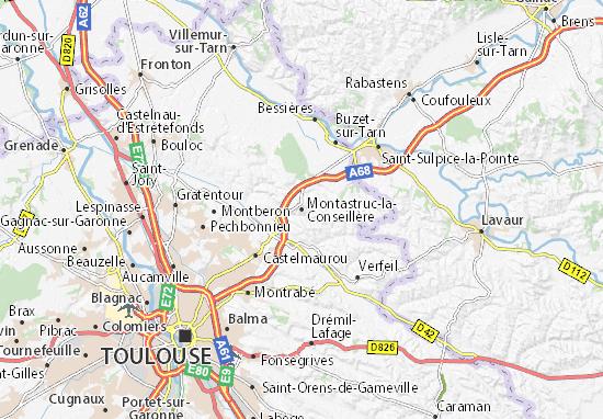 Kaart Plattegrond Montastruc-la-Conseillère